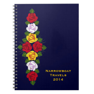 British canal roses notebook