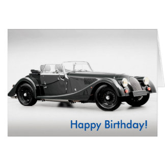 British car image for Birthday greeting card
