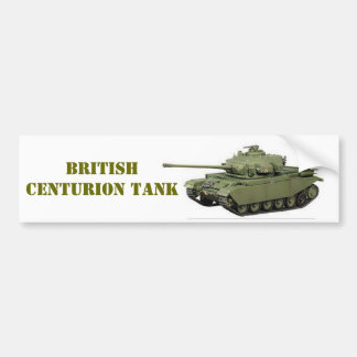 BRITISH CENTURION TANK BUMPER STICKER