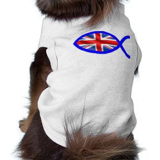 British Christian Fish Symbol Flag Pet Clothing