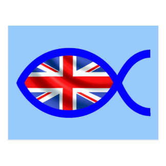 British Christian Fish Symbol Flag Post Cards