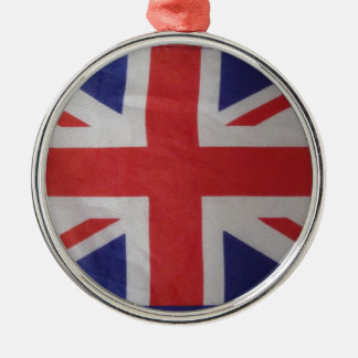 british christmas Silver-Colored round decoration
