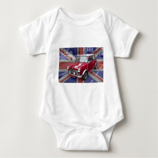 British Classic Mini car Baby Bodysuit