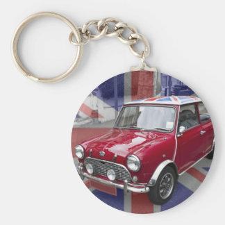 British Classic Mini car Basic Round Button Key Ring