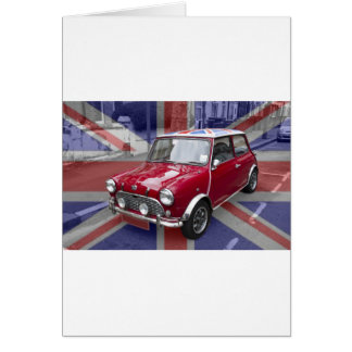 British Classic Mini car Card