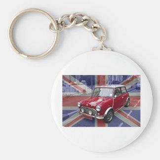 British Classic Mini car Key Ring