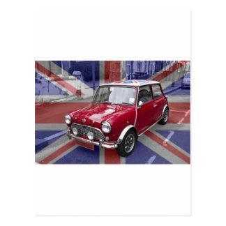 British Classic Mini car Postcard