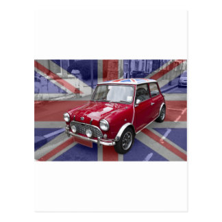 British Classic Mini car Postcard