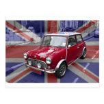British Classic Mini car Postcards