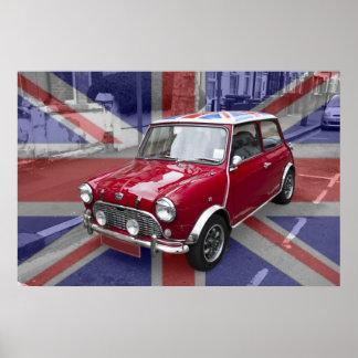 British Classic Mini car Poster