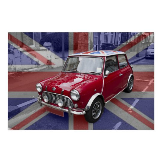 British Classic Mini car Poster