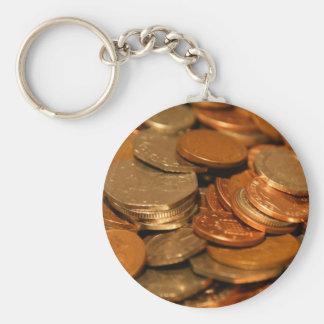 British Coin Money Key Ring