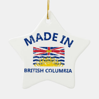 british colombia Coat of arms Ceramic Star Decoration