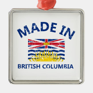 british colombia Coat of arms Silver-Colored Square Decoration