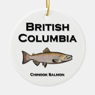 British Columbia - BC Chinook Salmon Christmas Ornament