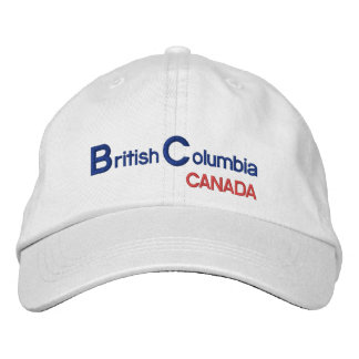 British* Columbia Canada Hat Embroidered Hat
