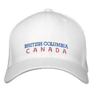 BRITISH COLUMBIA,CANADA HAT EMBROIDERED HATS