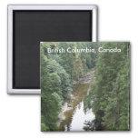British Columbia, Canada Square Magnet