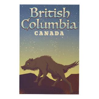 British Columbia Canada Wolf poster