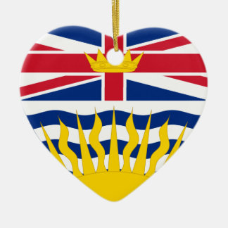 British Columbia Flag Heart Christmas Ornament