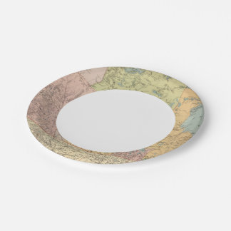 British Columbia, North West Territory Paper Plate
