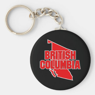 British Columbia Province Basic Round Button Key Ring