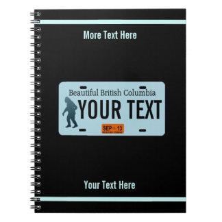 British Columbia Sasquatch License Plate Notebooks