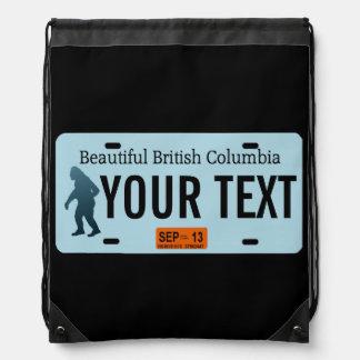 British Columbia Sasquatch License Plate Rucksack