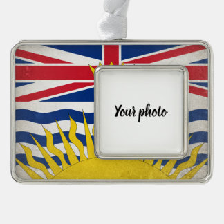 British Columbia Silver Plated Framed Ornament