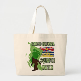 British Columbia Squatch Watch Large Tote Bag