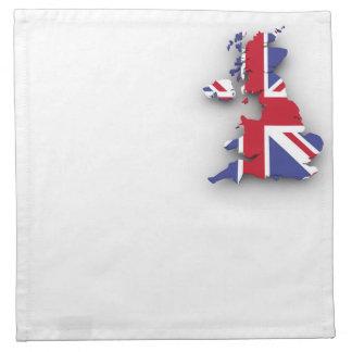 British country flag napkin