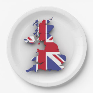 British country paper plate