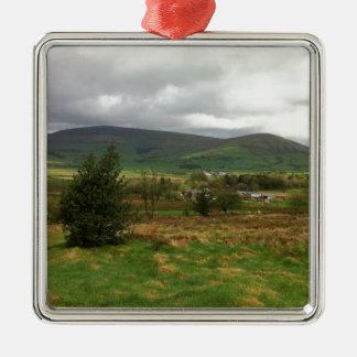 British Countryside Silver-Colored Square Decoration