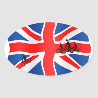 British cycling oval sticker