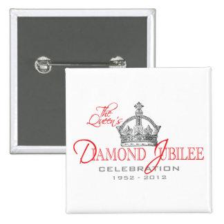 British Diamond Jubilee - Royal Souvenir 15 Cm Square Badge