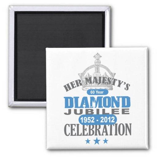 British Diamond Jubilee - Royal Souvenir Magnets
