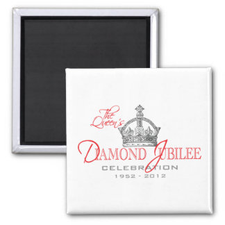 British Diamond Jubilee - Royal Souvenir Square Magnet