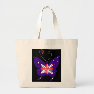 British Diva Butterfly Canvas Bags