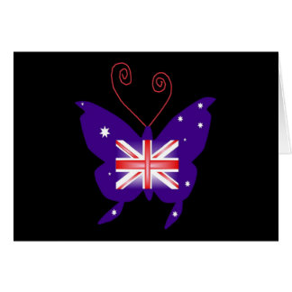 British Diva Butterfly Greeting Card