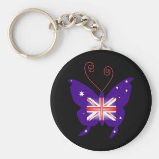 British Diva Butterfly Keychains