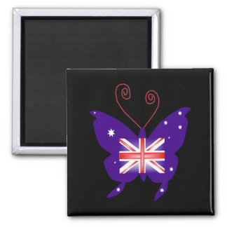 British Diva Butterfly Magnets