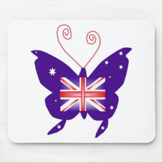 British Diva Butterfly Mouse Pad