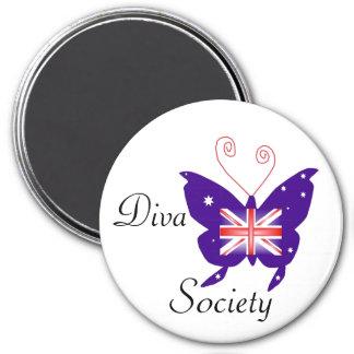 British Diva Butterfly Society Magnet