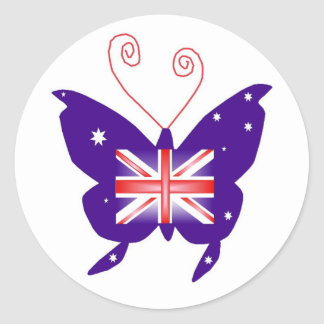 British Diva Butterfly Stickers