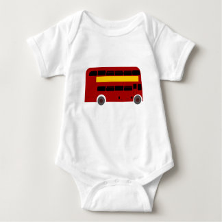 British Double-Decker Bus Baby Bodysuit
