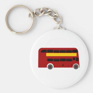 British Double-Decker Bus Key Ring