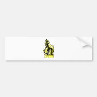 British Emblem Lion  Yellow The MUSEUM Zazzle Gift Bumper Sticker