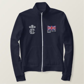 British Empire Clothing - British Pride Track Top. Embroidered Jacket