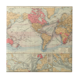 British Empire, routes, currents Tile