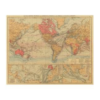 British Empire, routes, currents Wood Wall Art